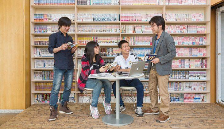 Với nhiều đầu sách phục vụ học tập, nghiên cứu