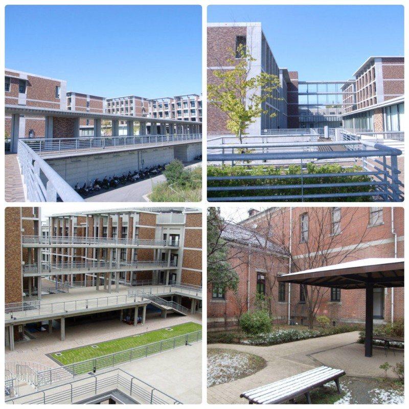 Các dãy nhà với những phòng học hiện đại đầy đủ trang thiết bị